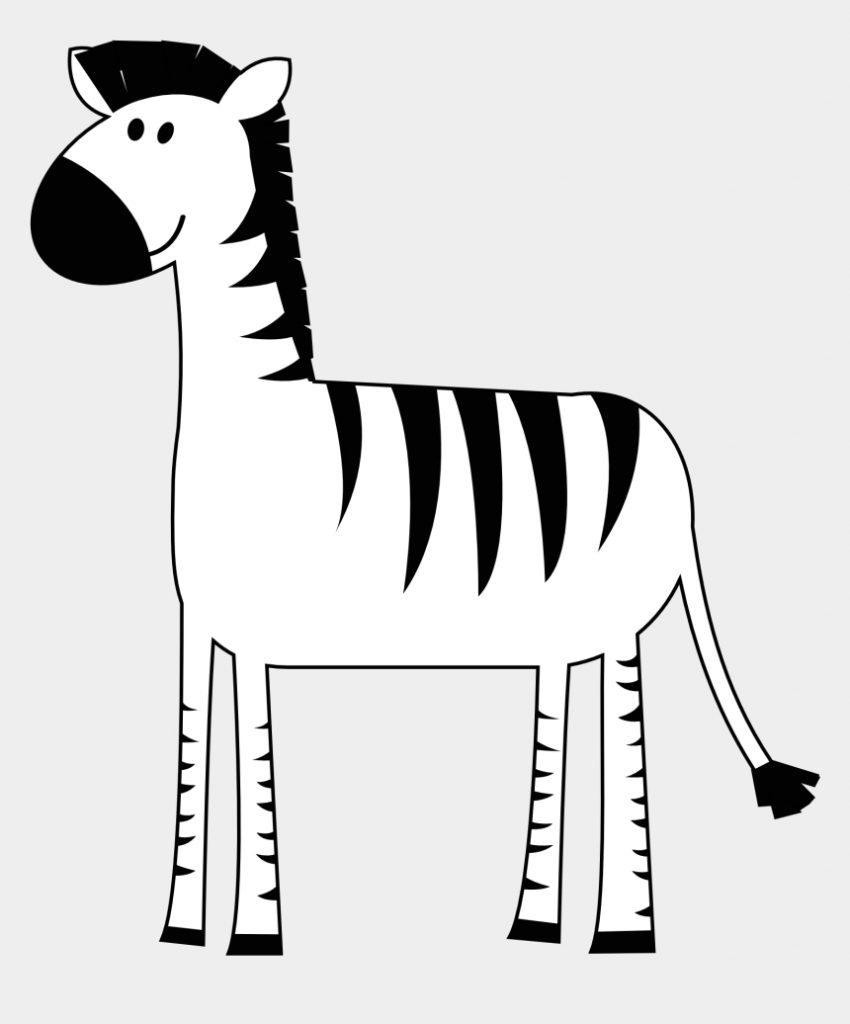zebra clipart animals clip art black and white vector