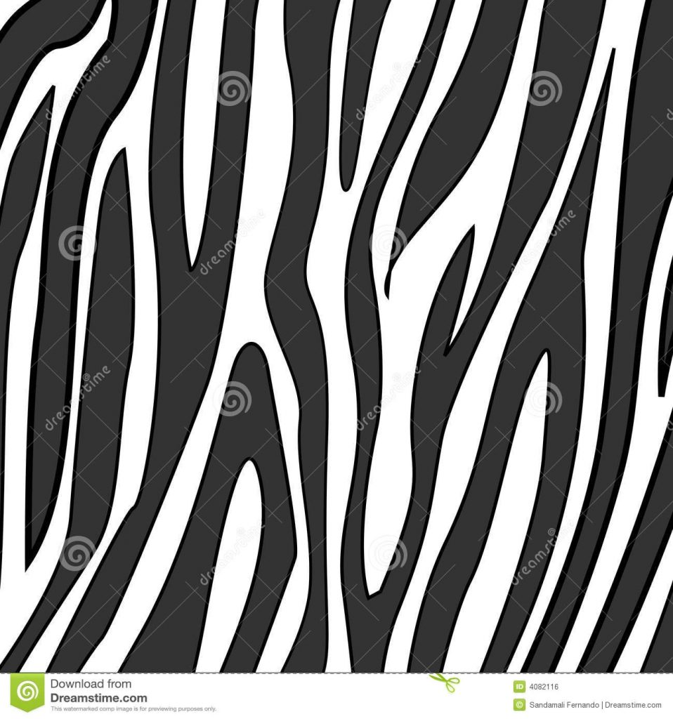 zebra print stock vector illustration of safari wildlife