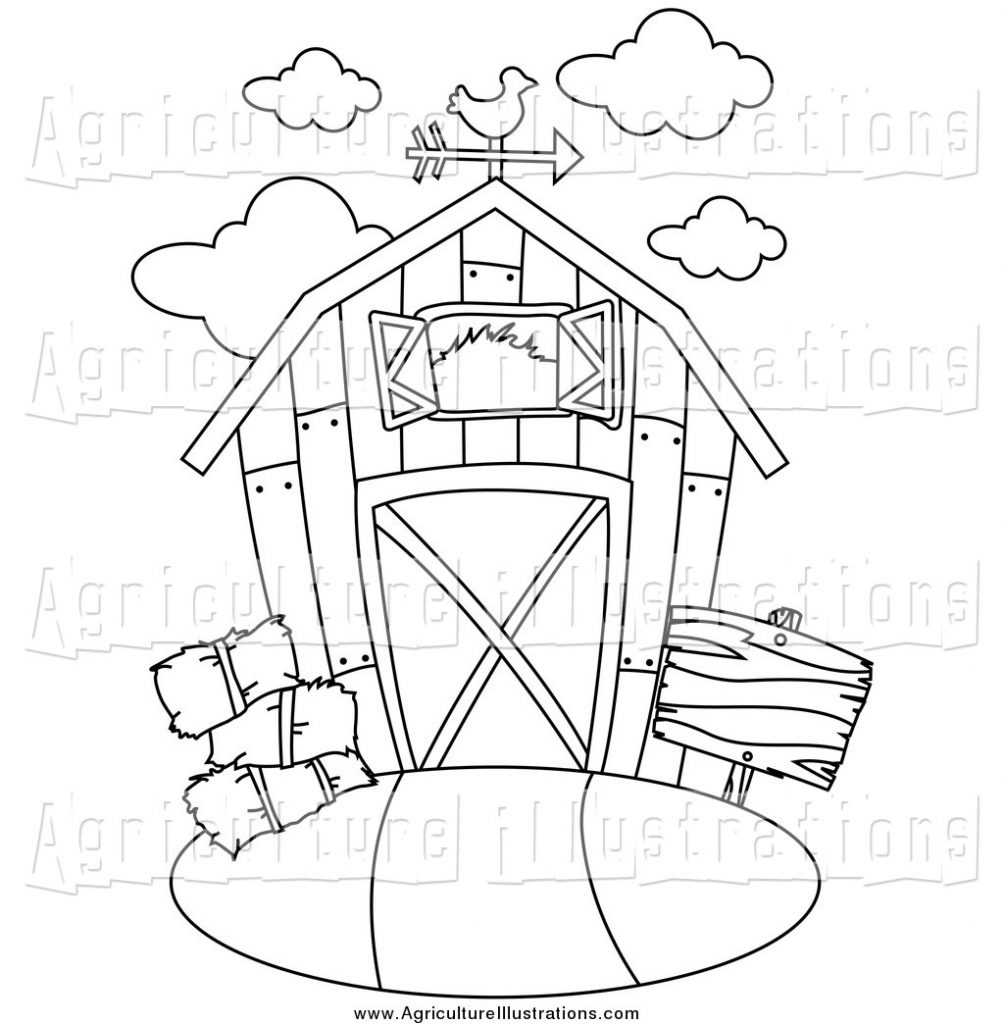agriculture clipart of a black and white barn bnp design