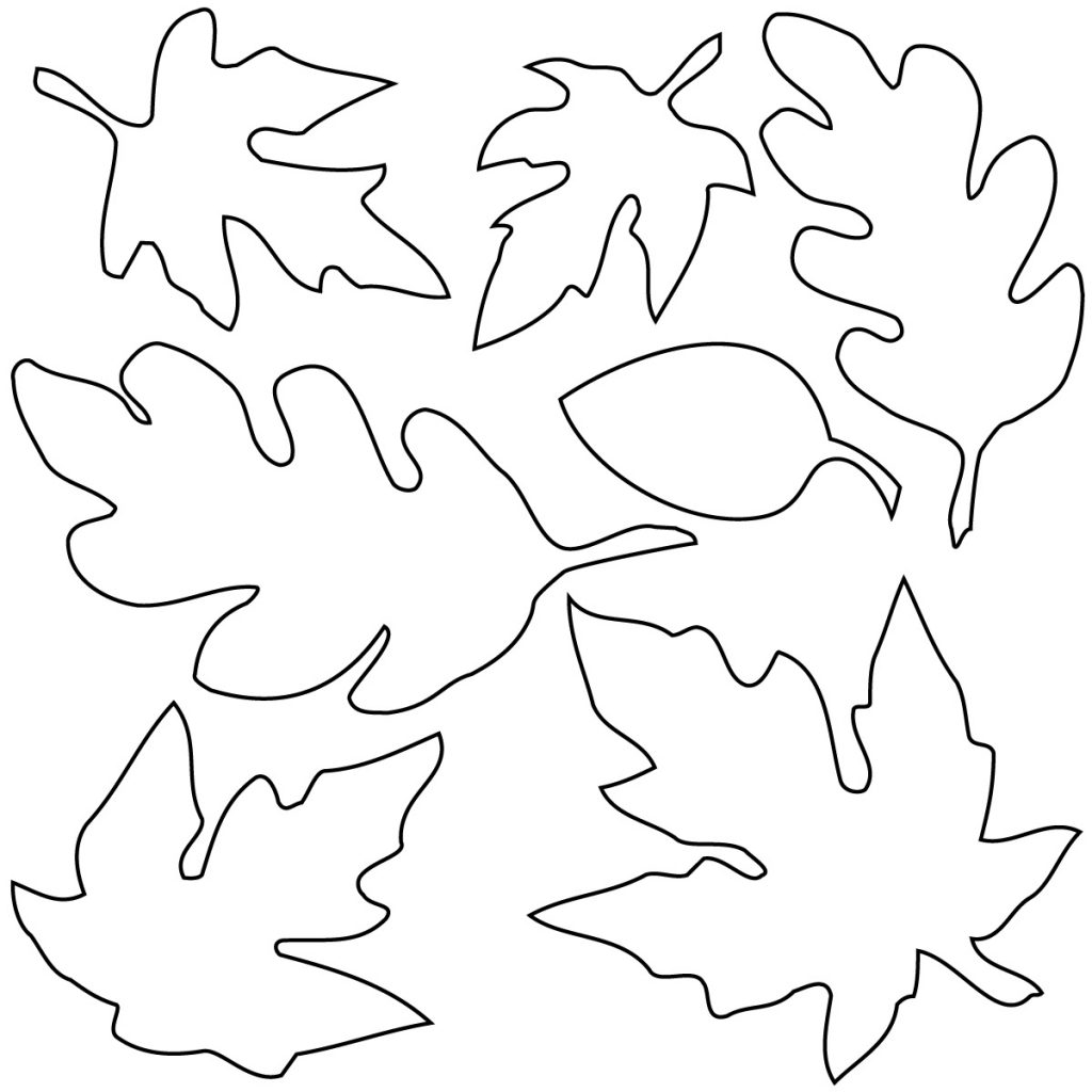 best fall leaves clip art black and white 21680