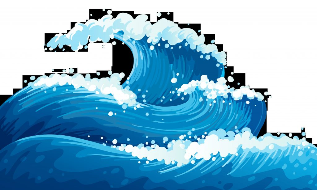 blue sea waves ground clipart picture ocean wave drawing