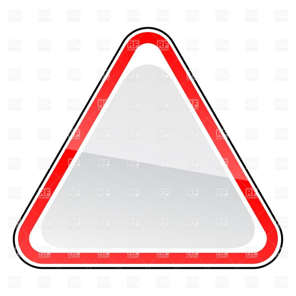 clipart of the blank road sign free image