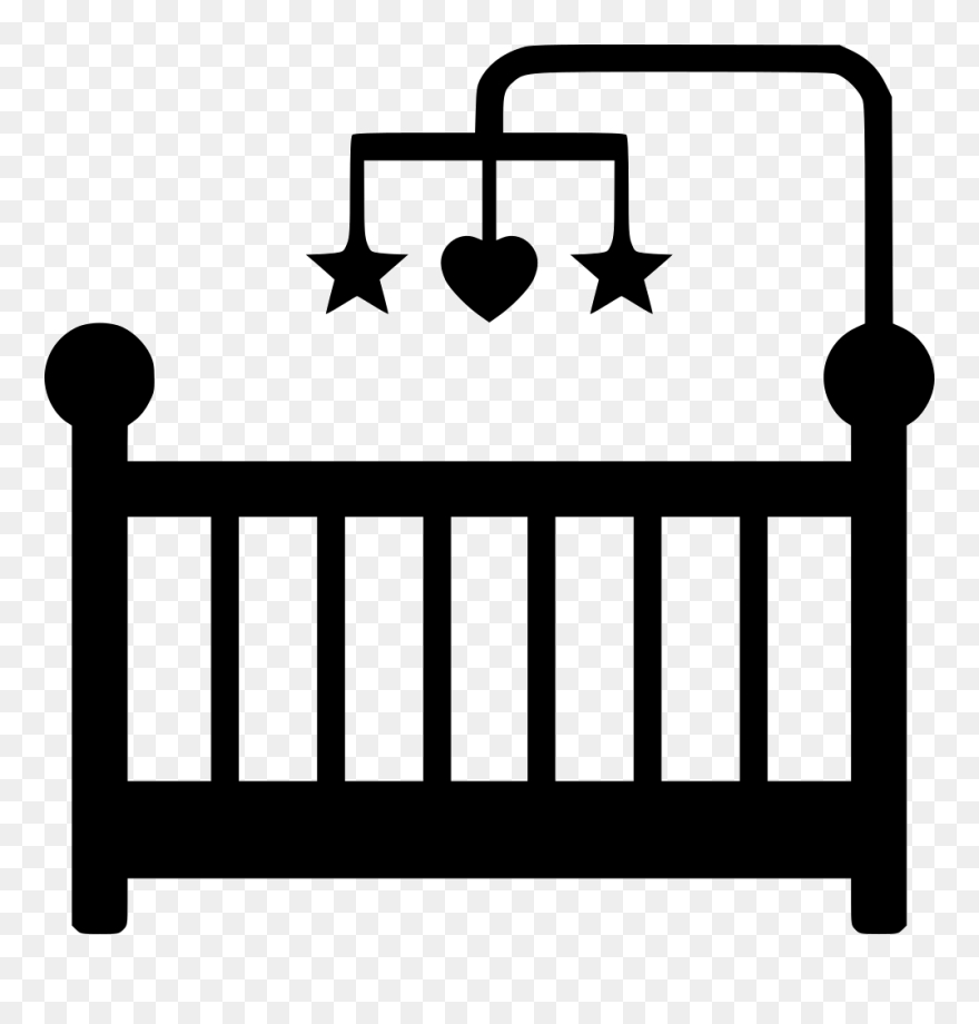 cots infant clip art ba crib drawing easy png download
