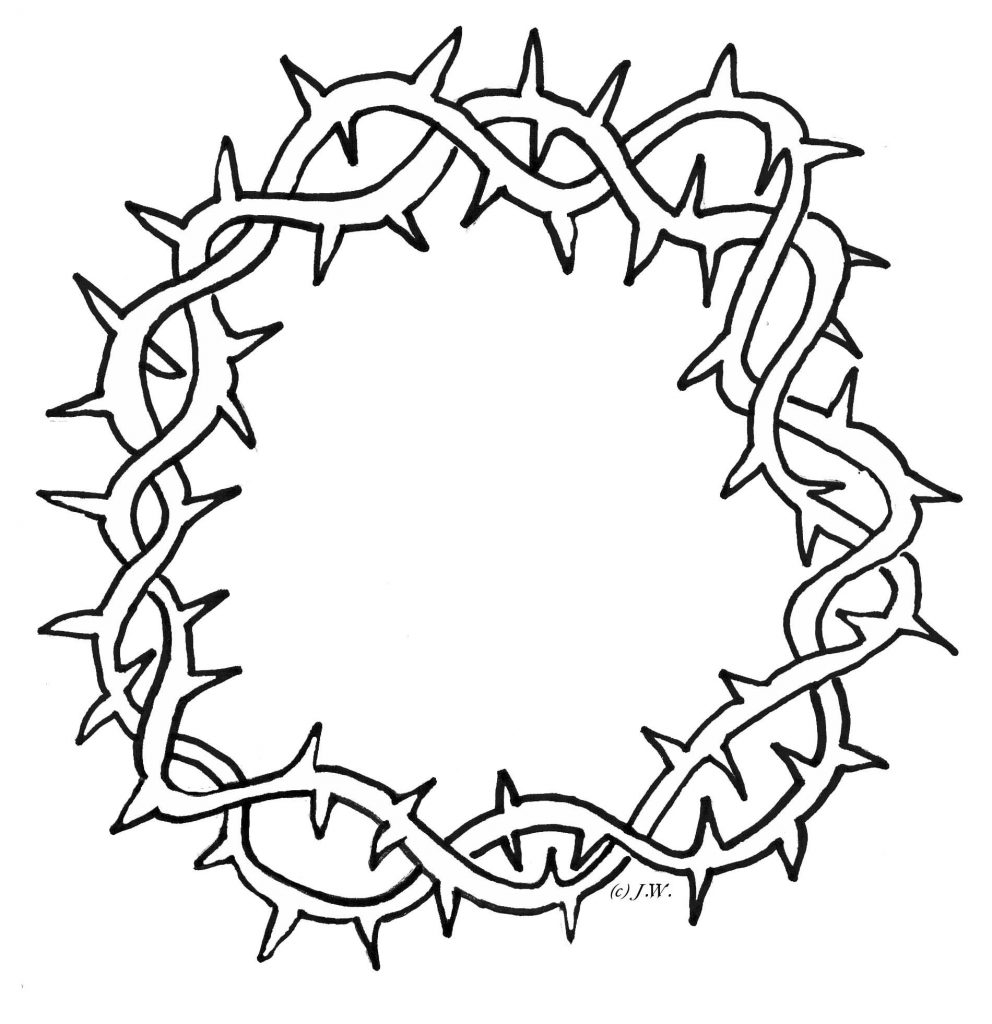 crown of thorns clipart clipartsco crown of thorns