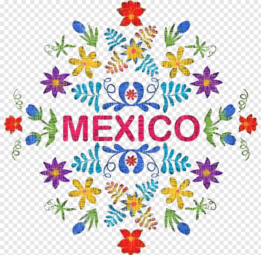 flower line art mexican cuisine floral design embroidery