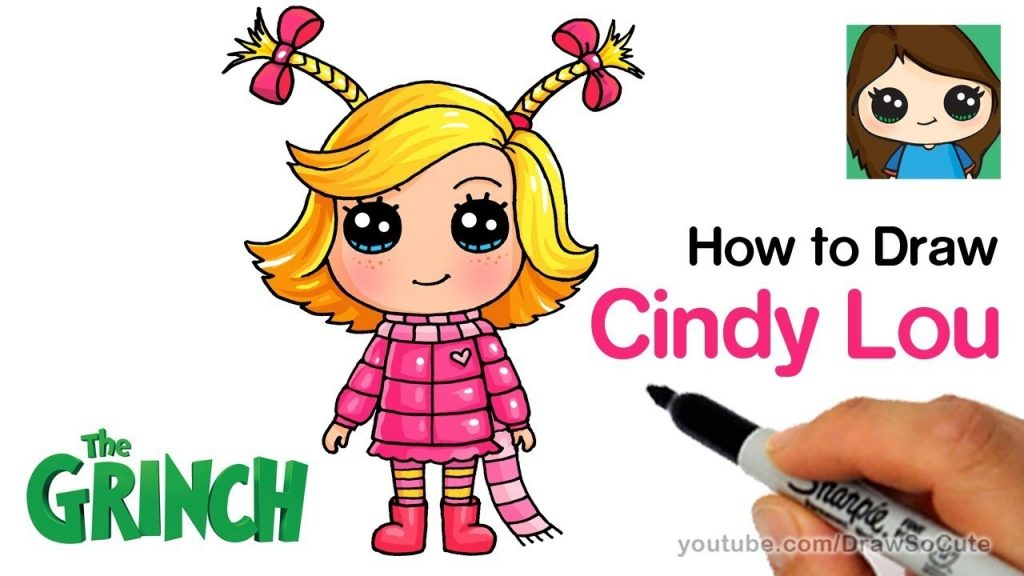how to draw cindy lou who the grinch