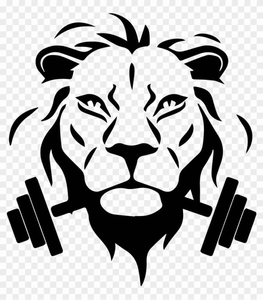lion face black and white clipart hd png download