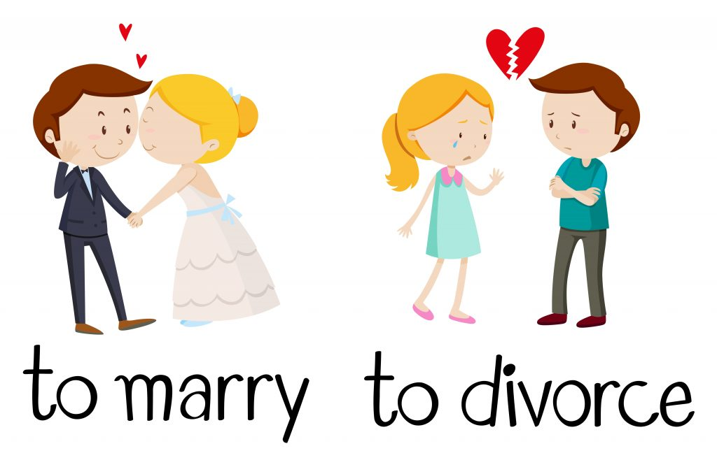 opposite words for marry and divorce download free vectors