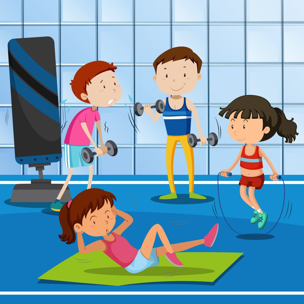 people work out at the gym download free vectors clipart