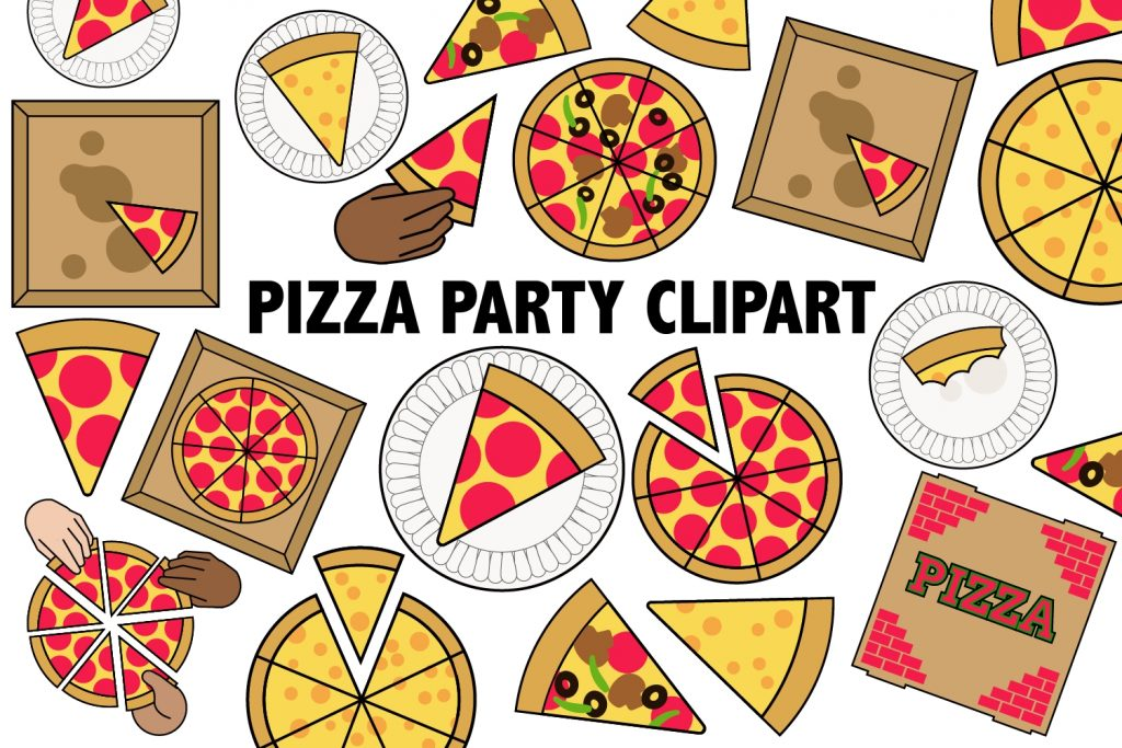 pizza party clipart this listing is for 20 original pizza