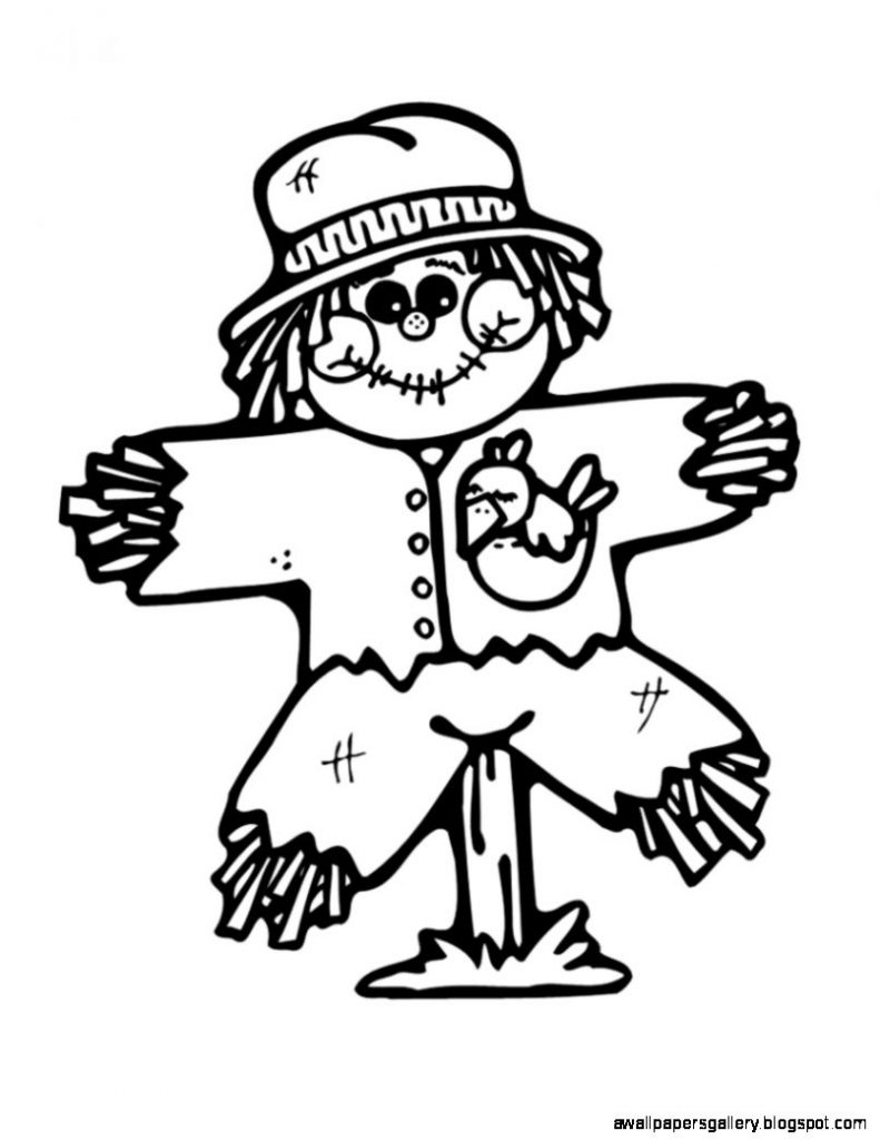 simple scarecrow clip art black and white wallpapers gallery